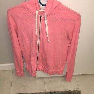 Pink- light weight hoodie- zip up